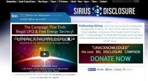 siriusdisclosure official website unacknowledged connectivist collective screenshot may 30 2016