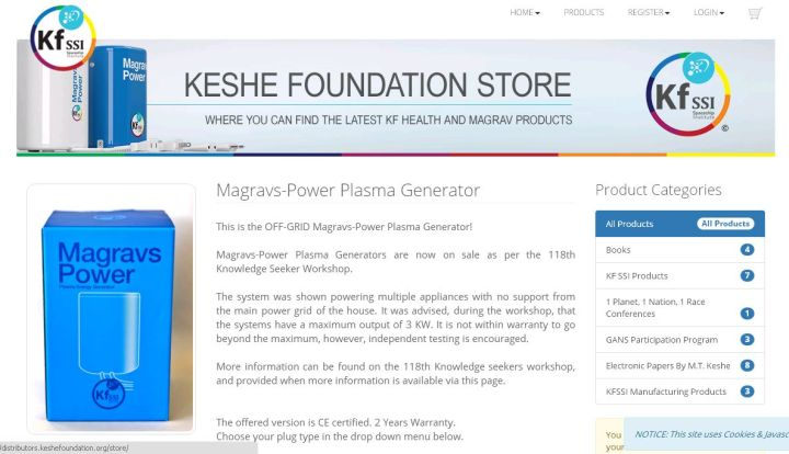 MMK_KFSSI_webstore_screenshot_Magravs_Power_Plasma_Generator_july4_2016
