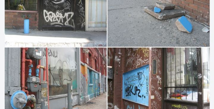 Kensington Market Anonymous Blue Paintings